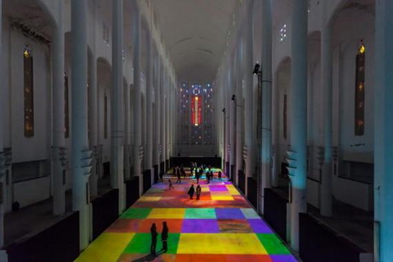 Tapis magique lumineux à la Salle sacré-cœur Casablanca