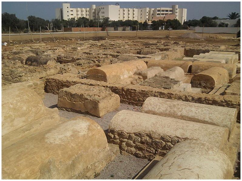 Hammamet Tunisie les Catacombes sur le site de Pupput
