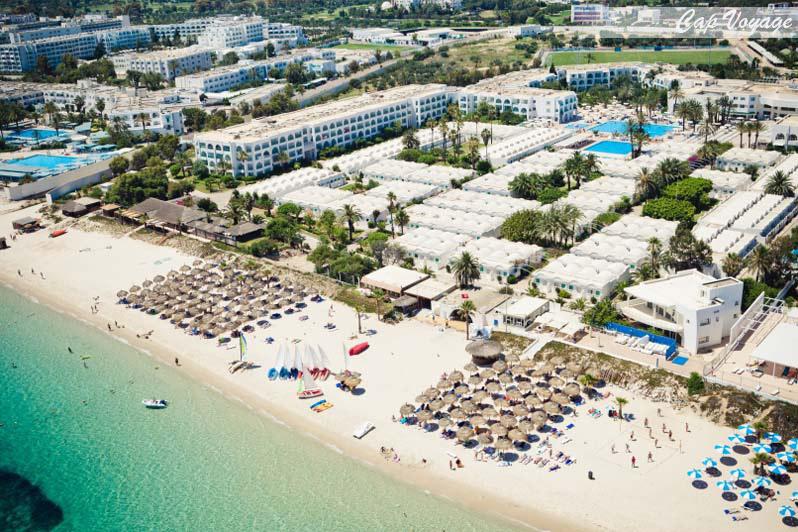 Hotle Club El Kantaoui, Sousse, Tunisie, vue aérienne, vue mer