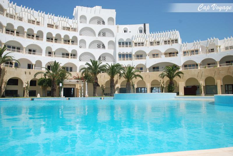 Hotel Delphin Ribat Monastir Tunisie, vue piscine