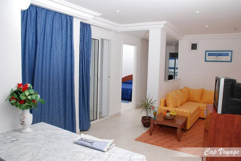 Hotel El Faracha Sousse Tunisie, vue dans la chambre