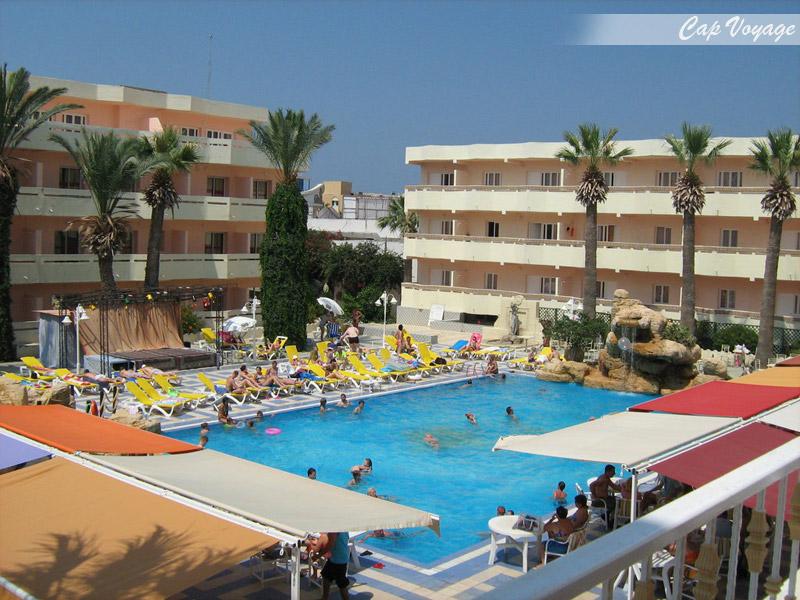 Hotel Samara Sousse Tunisie, vue piscine