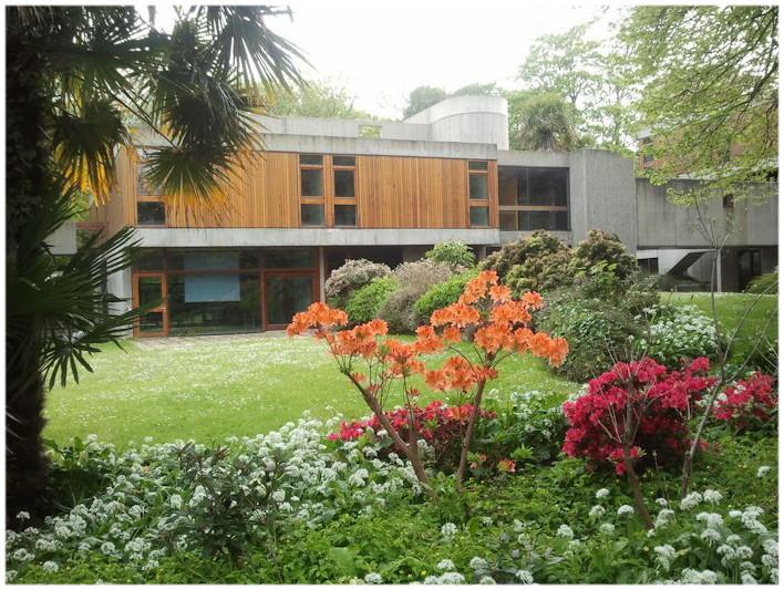 Jardin de l'Auberge de jeunesse Ethic Etapes de Brest France