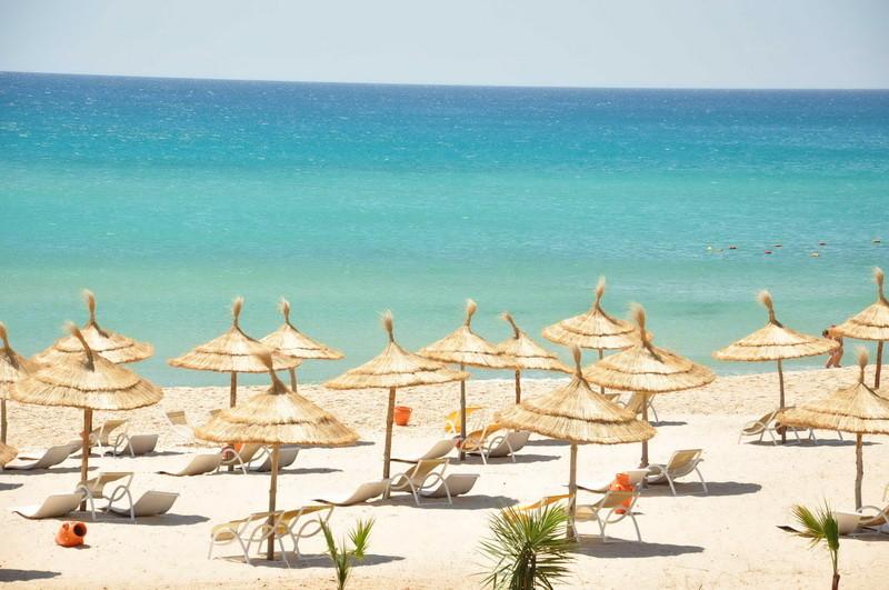 La plage de sable fin de Hammamet Tunisie