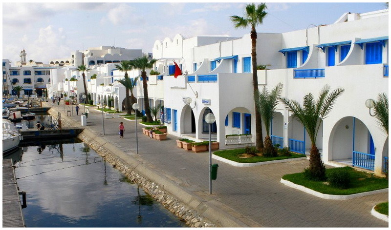 Le port de plaisance Marina Cap Monastir en Tunisie