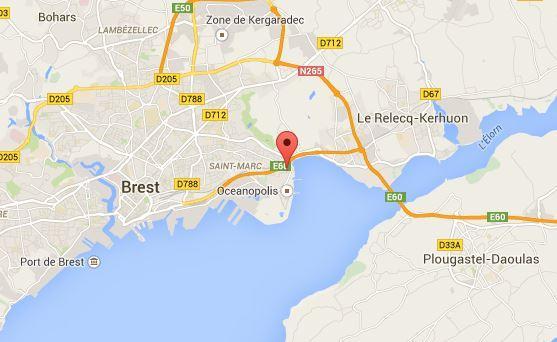 Plan d access Auberge de jeunesse Ethic Etapes de Brest en France