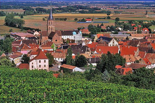 La ville de Soultz, Alsace France