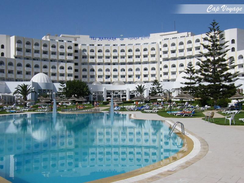 Hotel Tej Marhaba Sousse Tunisie, vue piscine
