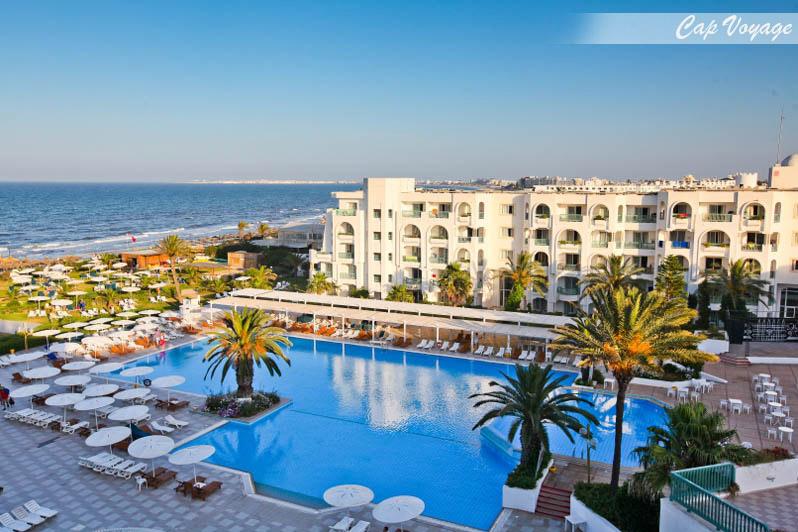 Hotel El Mouradi Mahdia Tunisie, vue piscine et mer