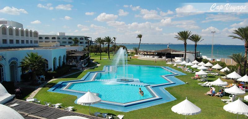 Hotel Kuriat Palace Monastir Tunisie, vue piscine
