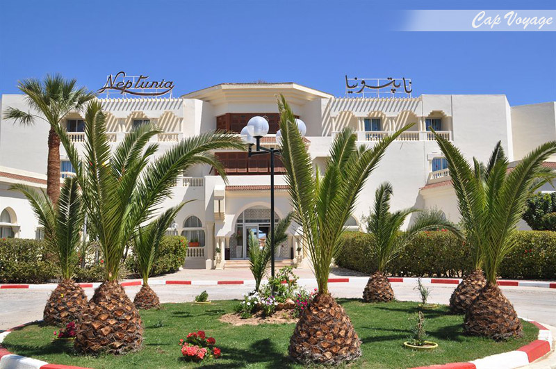 Hotel Neptunia Beach Monastir, Tunisie, vue de face