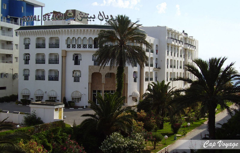 Hotel Royal Beach Sousse Tunisie, vue de face de l'hotel