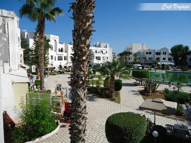 Hotel les maisons des jardins Sousse Tunisie, vue jardin Kantaoui