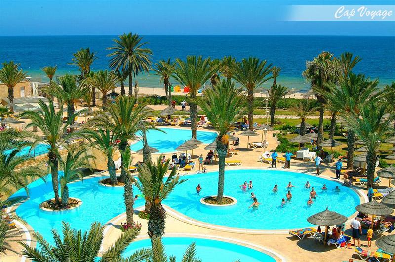 Houda Golf and Beach Club Monastir Tunisie, vue piscine