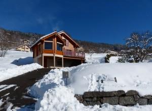 Les Vosges,France,tourisme hivernal,Chalet-extérieur-hiver