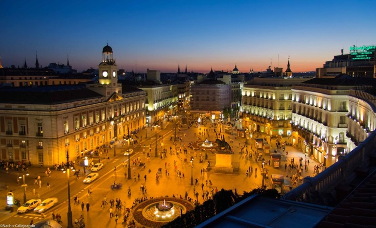 La Puerta Del Sol, Madrid, Espagne