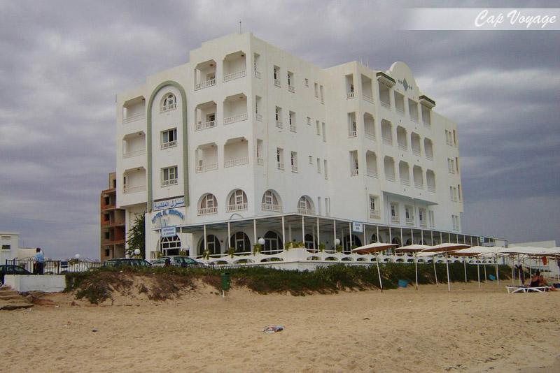 Hotel El Menchia Sousse Tunisie, vue de face et plage