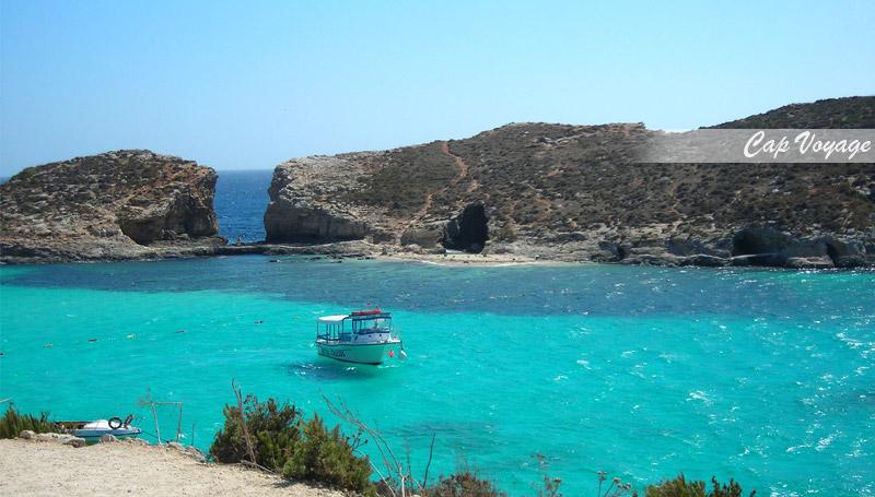 ile de Gozo, Malte la mer