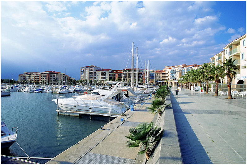 Argeles-sur-Mer,Roussillon-Languedoc,France,port