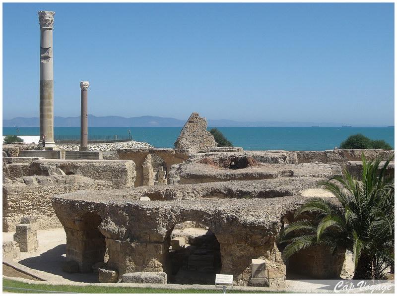 Ruines des thermes d'Antonin à Carthage, Voyage en Tunsiie