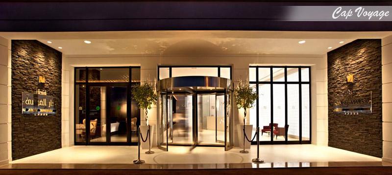 Hotel Dar el Marsa, Tunis, Tunisie, vue d'entrée