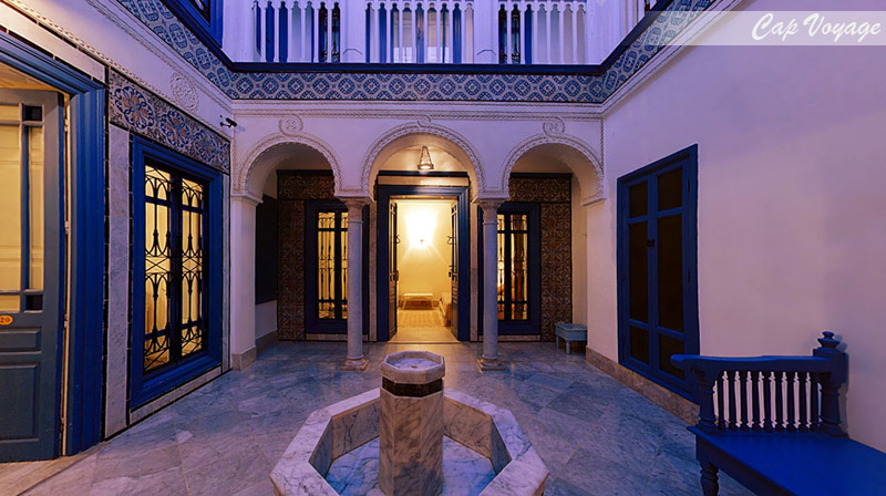 Hotel Dar Said, Tunis, Tunisie, vue d'interieur
