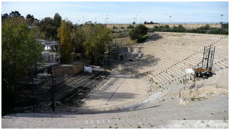 Le theatre romain de Carthage, voyage en Tunisie