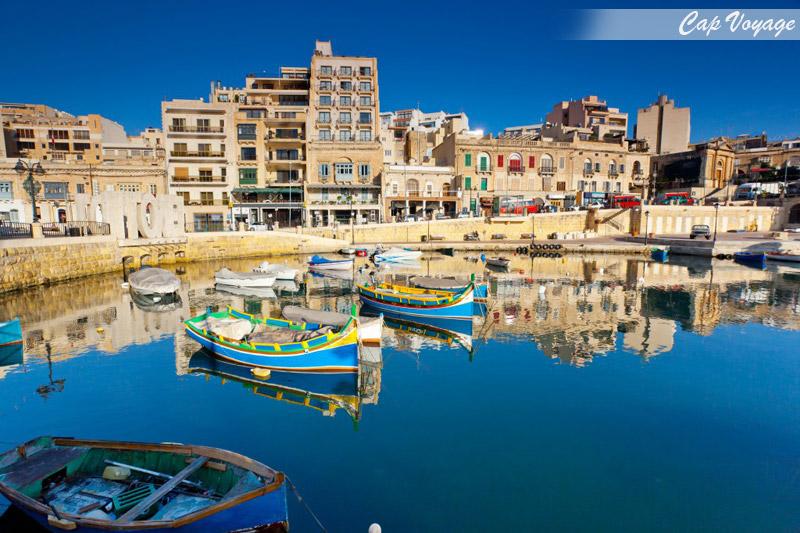 île de Malte, vue port