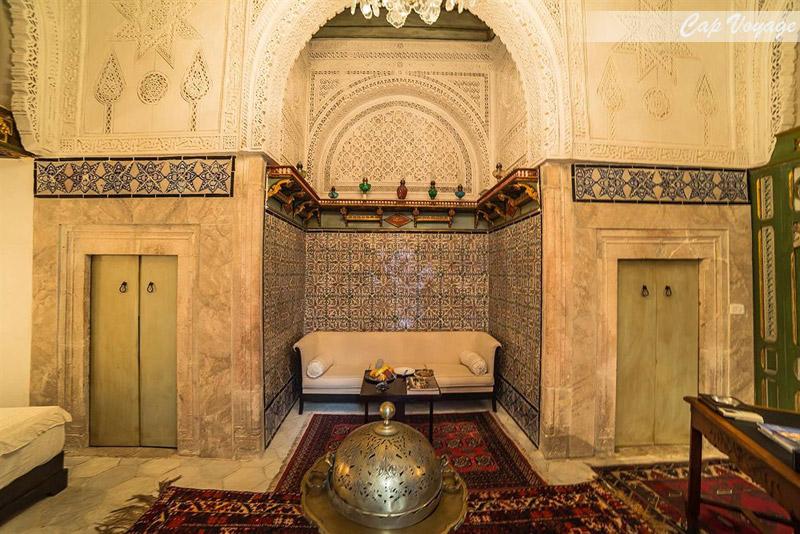 Riad dar ben gacen, Tunis, Tunisie, vue d'interieur