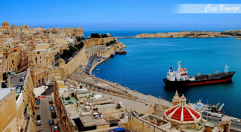 La valette, Malte, vue port