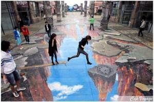 Le Top 16 des Street Art en 3D qui donnent du vertige !