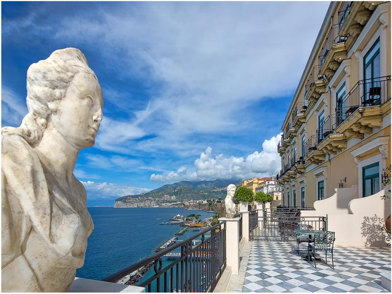 Hotel Casa Bellevue, Naples, Italie, vue sur mer