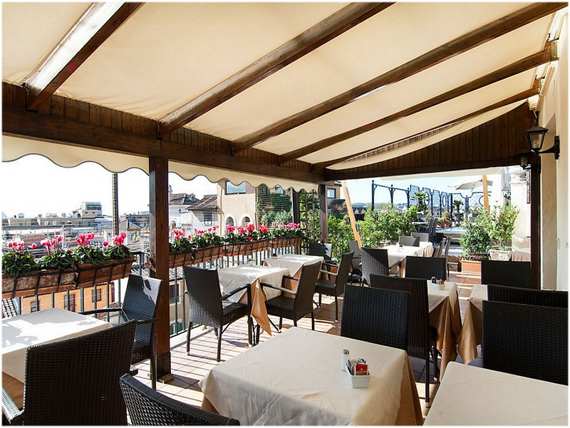 Hotel Colonna Palace, Rome, Italie, terrasse