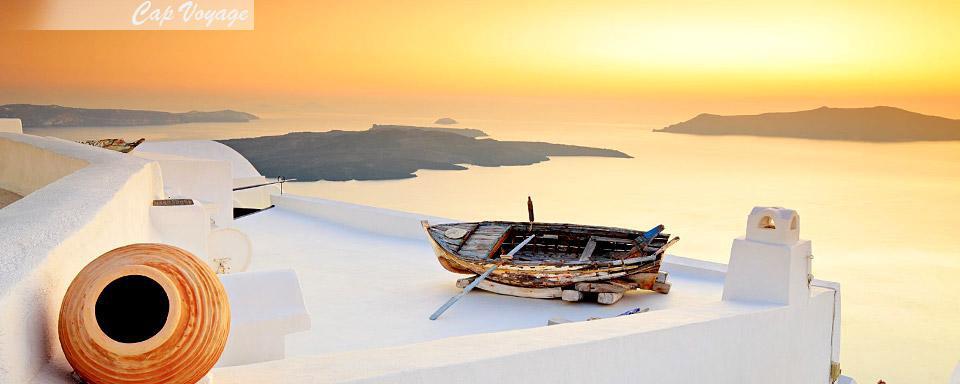 Santorin, Grece, coucher soleil