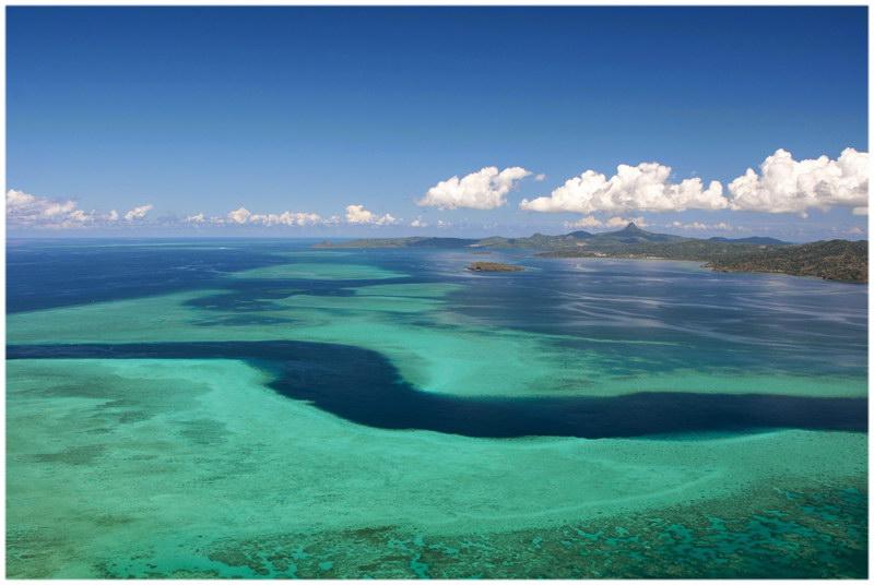 Lagon de l'île Mayotte, archipel des Comores, océan Indien
