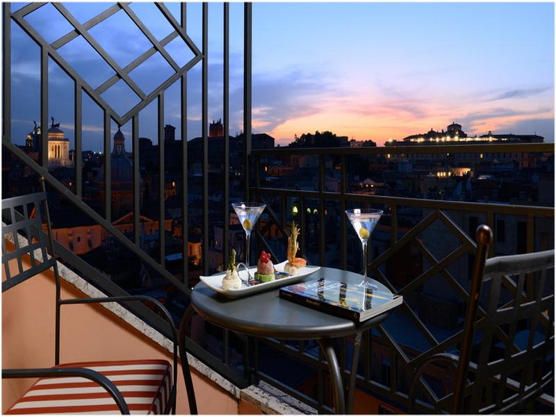 Grand Hotel Palatino, Rome, Italie, Terrasse