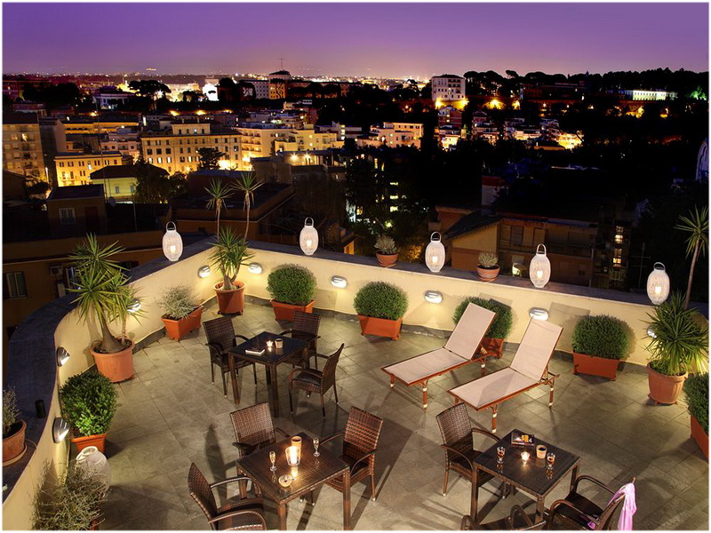 Hotel Alessandrino, Rome, Italie, Terrasse