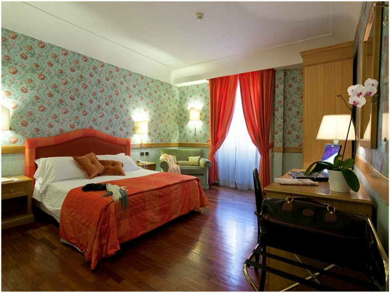 Hotel Diana Roof Garden, Rome, Italie, Chambre