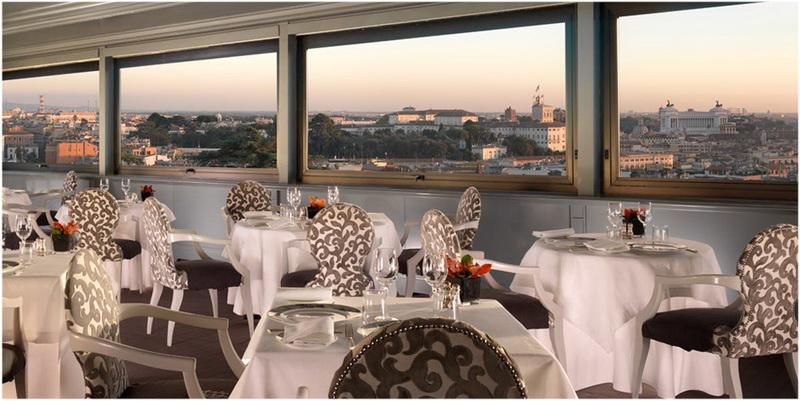 Hotel Eden, Rome, Italie, Terrasse