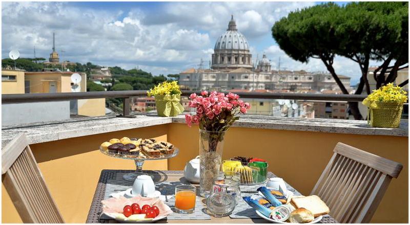 Hotel Fragrance St.Peter, Rome, Italie, Terrasse
