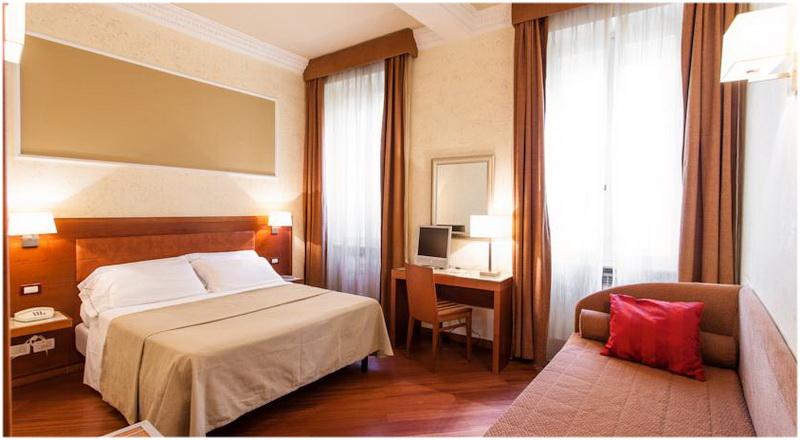Hotel Madrid, Rome, Italie, Chambre