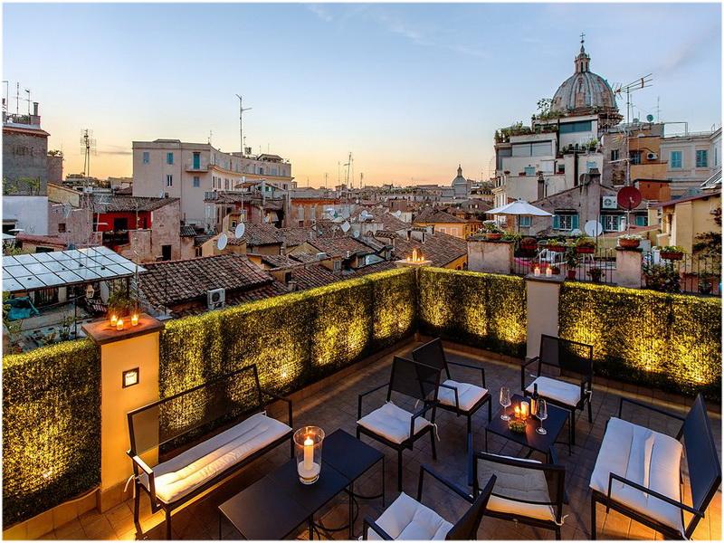 Hotel Smeraldo, Rome, Italie, Terrasse