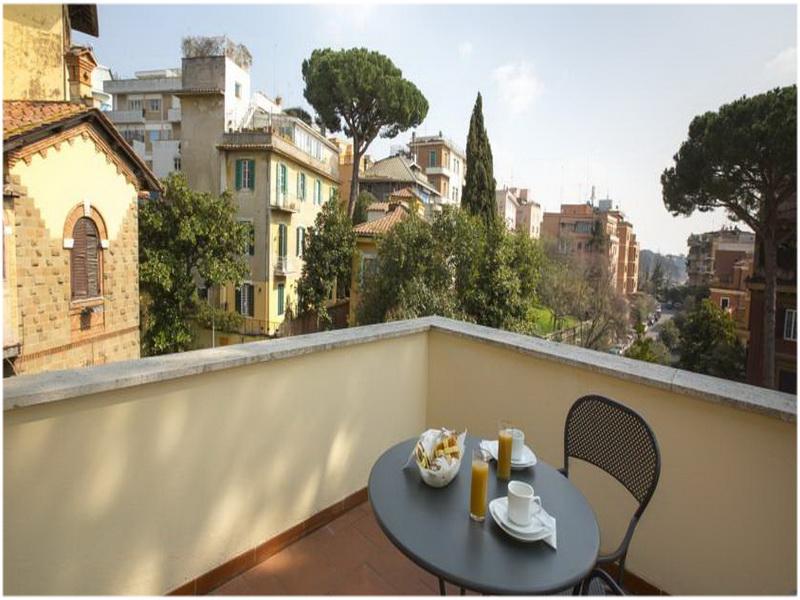 Hotel Villa Tassoni, Rome, Italie, Terrasse