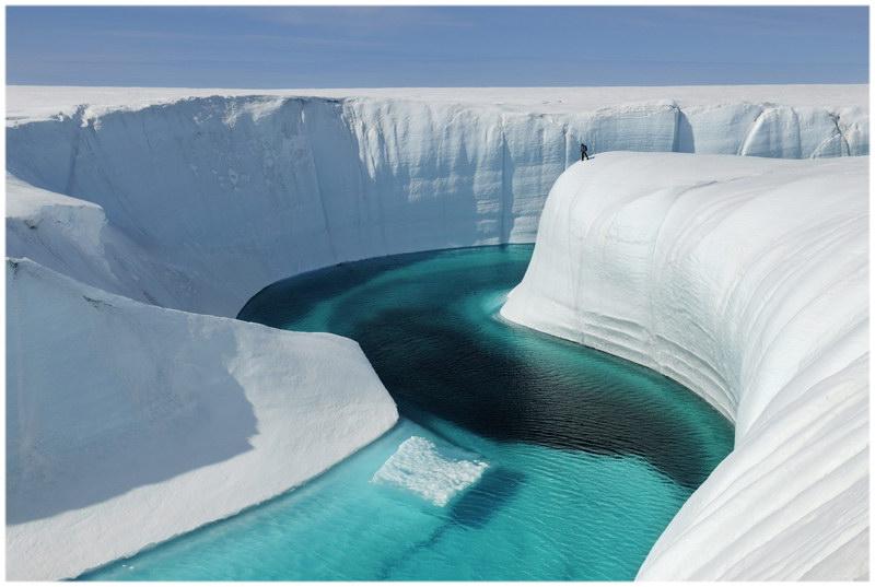 Ice Canyon au Groenland