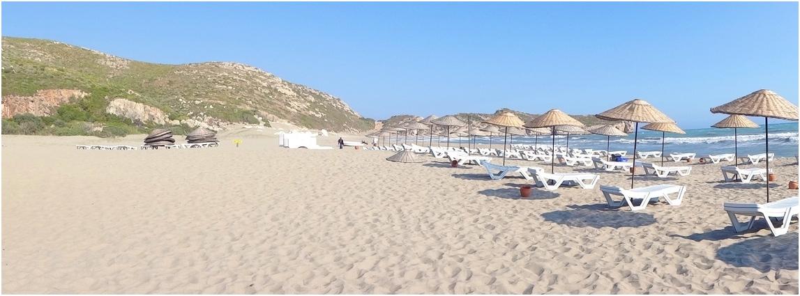 La plage de Patara, Turquie