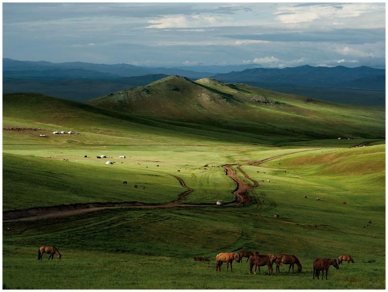 Les grandes steppes de Mongolie