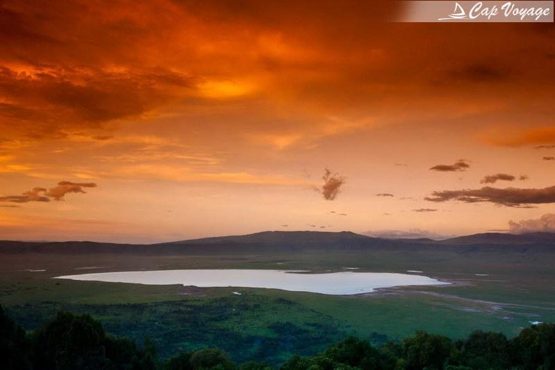 Vue panoramique du cratère du Ngorongoro en Tanzanie