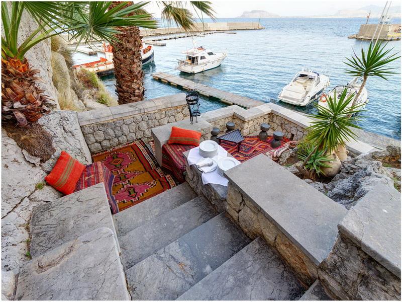 Grand Hotel Villa Igiea, Palerme, Italie, Vue sur mer