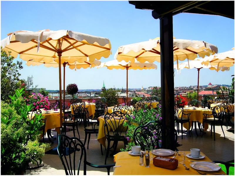Hotel Royal Marcella, Rome, Italie, Terrasse