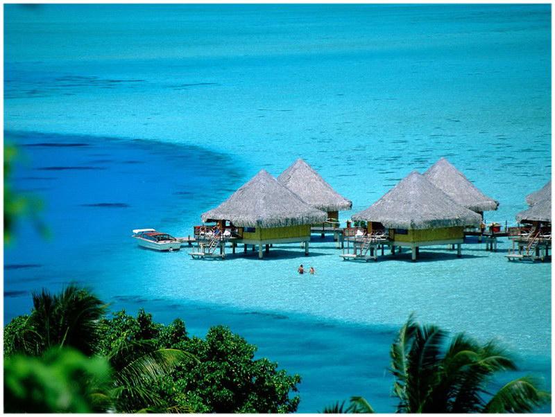 L'île de Bora Bora en Polynésie Française